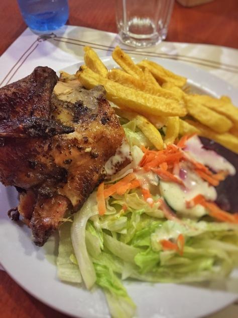 Pollo a la brasa especiado